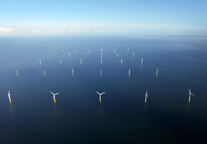 A UK off-shore wind farm.